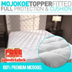 HOTEL MATTRESS TOPPER FITTED|FEELS LIKE GOOSE DOWN - 100% PREMIUM MICROGEL 33Oz ULTRA PLUSH COMFORT and FULL PROTECTION (Lapisan Bantal Matras/Kasur/Bed Top Bulu Angsa Sintetis)