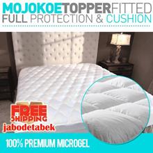 HOTEL MATTRESS TOPPER FITTED|FEELS LIKE GOOSE DOWN - 100% PREMIUM MICROGEL 33Oz ULTRA PLUSH COMFORT and FULL PROTECTION (Lapisan Bantal Matras/Kasur/Bed Top Bulu Angsa Sintetis)