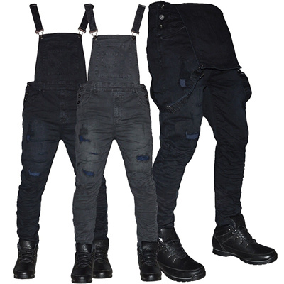 243189d6756 New Arrival Fashion Men Street Denim Jeans Strap Overall Jumpsuit Male  Casual Slim Denim Long Pants