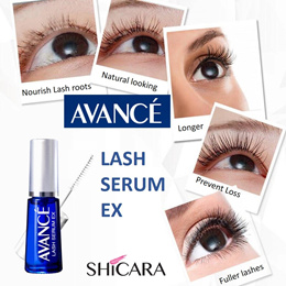 Forget about fake eyelashes! AVANCE Lash Serum Ex