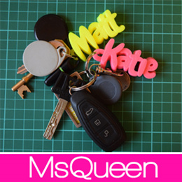 [MsQueen] G458 - Customizable Name Keychain / Ready Stock