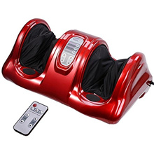 Foot Calf and Ankle Rolling Kneading Massager with Remote : RED (110V only)