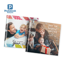 """40-Page 8""""x 8"""" Small Square Imagewrap Hardcover Photobook from Photobook Malaysia"""