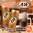 A n W Root Beer 250ml x 48 Clearance Stock Expiry In 30 May 2018. Est $0.20 Per Can