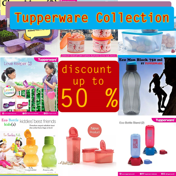 TUPPERWARE PROMOTION COLLECTION DISCOUNT UP TO 60% UNDER 100.000 Deals for only Rp35.000 instead of Rp35.000