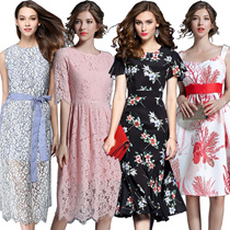 13th Promotions European and American high-end fashion dress high quality Sexy evening banquet dress