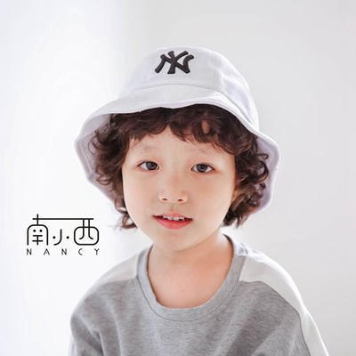 1c16acd8e1c MLB NY fisherman hat ribbon basin hat new hat children baby hat parent-child  bow