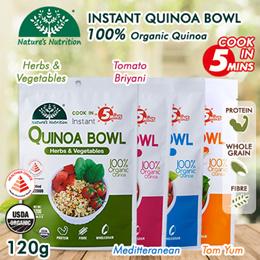 [ 1+ 1! ] Organic Instant Quinoa Bowl 120G Serves 2-3 Pax 4 Delicious Flavors!