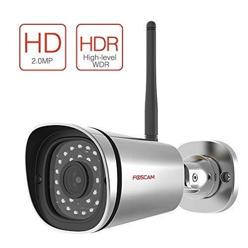 Foscam HD 1080P Outdoor WiFi Security Camera – Weatherproof IP66 Bullet /  2 1MP IP Wireless Surveill