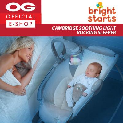 043c4f4465f4 Qoo10 - Ingenuity Bright Starts Soothing Light Rocking Sleeper ...