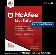💖Authorised Partner💖McAfee LiveSafe 2019 for 5 devices for 1 or 2 years - Activation code license