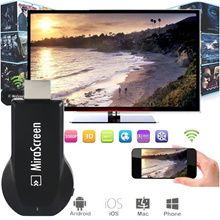 HOT for MiraScreen Chromecast SMO TV Stick Dongle Wi-Fi Display Receiver (Size: 1pcs)