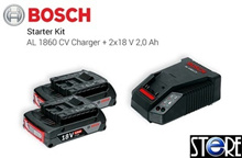 Bosch battery Starter Kit 18V (1.5Ah/2.0Ah/4.0Ah/6.0Ah) for all cordless and bare tool models