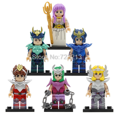 Bronze Saint Seiya Athena Cartoon Figure Saori Kido Ikki Hyoga Shun  Building Blocks Sets Models