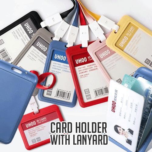 UHOO 6633/6634 ID tag Ezlink Namecard pemegang kartu dengan lanyard multi warna Deals for only Rp15.000 instead of Rp15.000