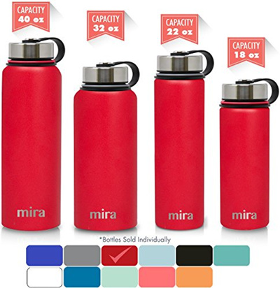 1307946a2f31 MIRA Stainless Steel Vacuum Insulated Wide Mouth Water Bottle | Thermos  Flask Keeps Water Stay Co...