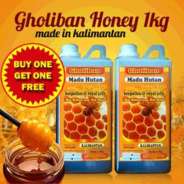 Madu Hutan Kalimantan Gholiban Plus Bee Pollen Dan Royal jelly **BELI 1 GRATIS 1**