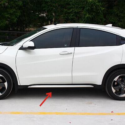 Chrome Side Door Line Molding Garnish Trim Cover Protector For Honda HRV / VEZEL 2014-