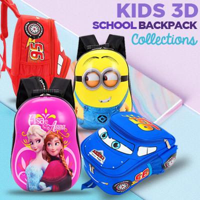 Tas Ransel Anak Sekolah 3D Sale!! UNISEX Deals for only Rp85.000 instead of Rp85.000
