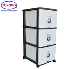 Toyogo Plastic Storage Cabinet / Drawer With Wheels (5 Tier) (805-3) W21