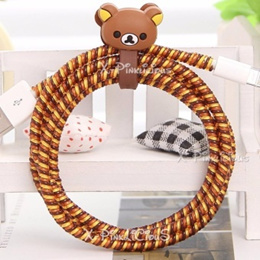 Brown Rilakkuma Cable Protector with Cord Winder
