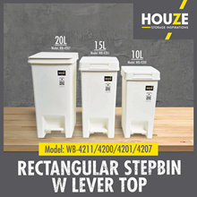♦ Rectangular Stepbin With Lever Top ♦ Multi-Functional ♦ Strong And Durable ♦ 100% Virgin PP
