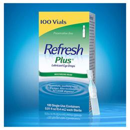 ( 미국직배 / 당일출고) 리프레쉬 플러스 일회용 점안액 인공눈물 100개