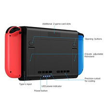 Nintendo Switch Battery Case 6500mAh Extended External Battery Charger Case Portable Charging Cas...