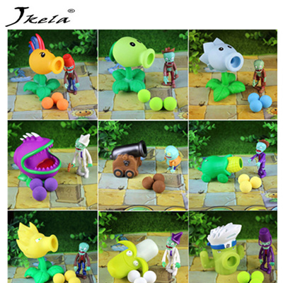 [New] 28styles New Game PVZ Plants vs Zombies Peashooter PVC Action Figure  Model Toys anime figurine