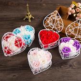 6pcs Heart-shaped rose soap flower  /Valentine/Birthday/Florist/Bridal/Proposal/Wedding/Romantic/