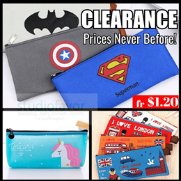 SALE [Buy 10+1 FREE] fr. $1.49 ONLY! Cute Pencil Case/ Pencil Box/ Files/ Pouch (CLICK TO SEE $1.49)