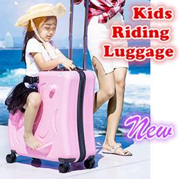 ★New Kids riding Luggage★ Hardcase travel Expandable Luggage Trolley child Case Suitcase 360 wheels