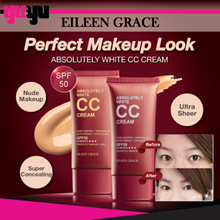 [Eileen Grace]♥Absolutely White CC Cream SPF50 PA++UVA/UVB [Oil-Control] 绝对美肌无暇修片50ml♥Pore Control♥