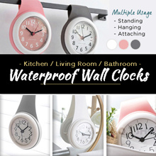 【MAIN IN KOREA】Silent Waterproof Wall Clock / Bathroom Clock / Kitchen / Home Interior