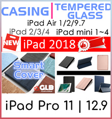New iPad Pro 11♥9.7 2018♥iPad Pro 10.5♥12.9♥2♥3♥4♥Mini 4♥Tempered Glass Screen Protector♥Case