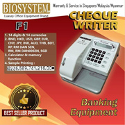 Biosystem F1 Cheque Writer / 14 Currencies / SG Warranty / Authentic