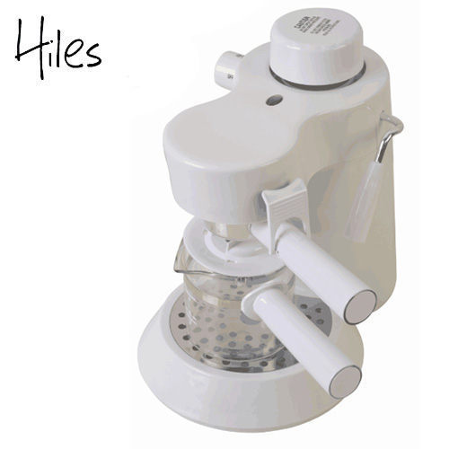 【Hiles】義式高壓蒸氣咖啡機(HE-301)典雅白