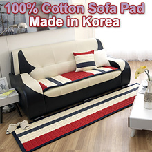 ★Sale★Sofa Cover/Couch Seat Pad Mat 100% Cotton 24 kinds★Korea Made★High-Quality Microfibre/ 4 Person /3 Person/Quilted Non Slip Thick Fabric/Childrens Kids BABY/Living Room Decor