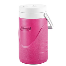 Coleman 1/2 Gallon / 1.9L Polylite Cooler Jug Durable Outdoor Ice Drink Jugs (Pink)