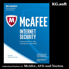 McAfee Internet Security 2018 for 1PC (Win) for 2 or 3 or 4 or 5-year - Activation Code license