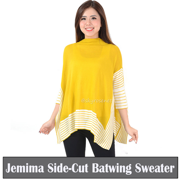 [BIG SALE RAMADHAN] Sweater Rajut JEMIMA SIDE-CUT BATWING Deals for only Rp61.970 instead of Rp72.906