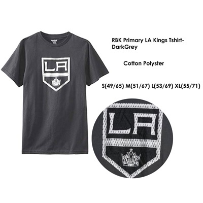 RBK Primary LA Kings Tshirt DarkGrey