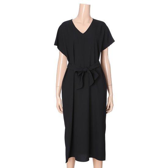 ステパネルVネクベルトロングワンピースSF7FOP905 面ワンピース/ 韓国ファッション