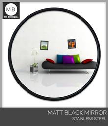 500MM Modern matt black bathroom wall mounted around mirror stainless steel frame