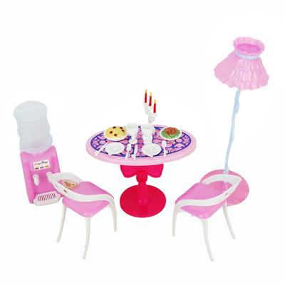 Qoo10 - Barbie Size Dollhouse Dining Room Furniture Play Set ...