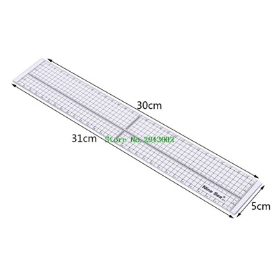Quilting Sewing Patchwork Foot Aligned Ruler Grid Cutting Edge Tailor Craft Nice
