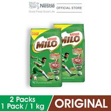NESTL MILO ACTIV-GO CHOCOLATE MALT POWDER Soft Pack 1kg x2 packs