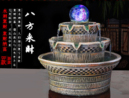 New Arrive Water Fountain from 8 direction/bring wealth/luck for home/family