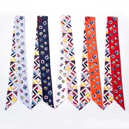 Women,Meat Lovers,Twilly Handbag Handle Silk Scarf Bracelet
