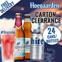 $43 After Apply $11 Cart Coupon【Fresh Stock】Hoegaarden Rosee Feb 2018